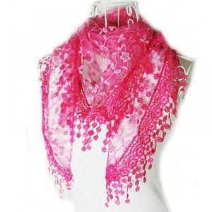 Accessories - Woman Pink Shawls Scarf
